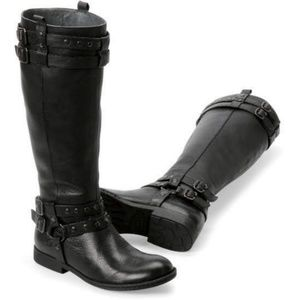 Born Gwynne Leather Harness Moto Knee Boots 8